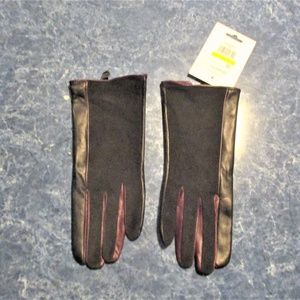 Calvin Klein Women's Leather And Suede Gloves